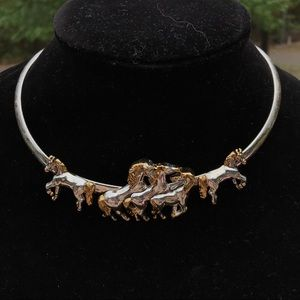 RARE Vintage BEST horse lovers equestrian necklace